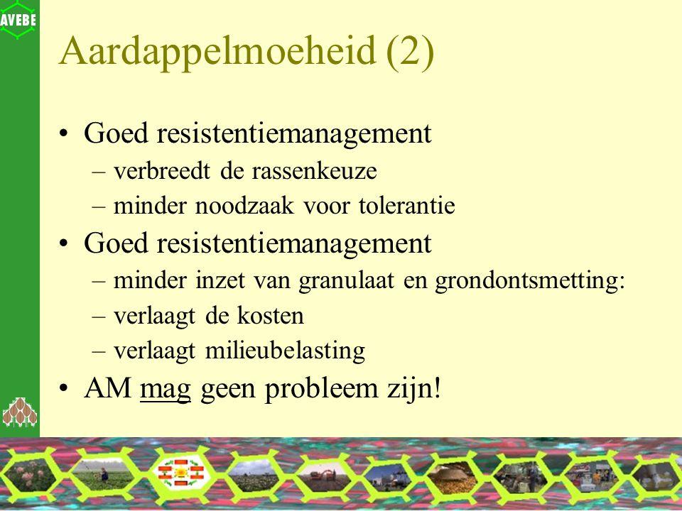 Aardappelmoeheid (2) Goed resistentiemanagement