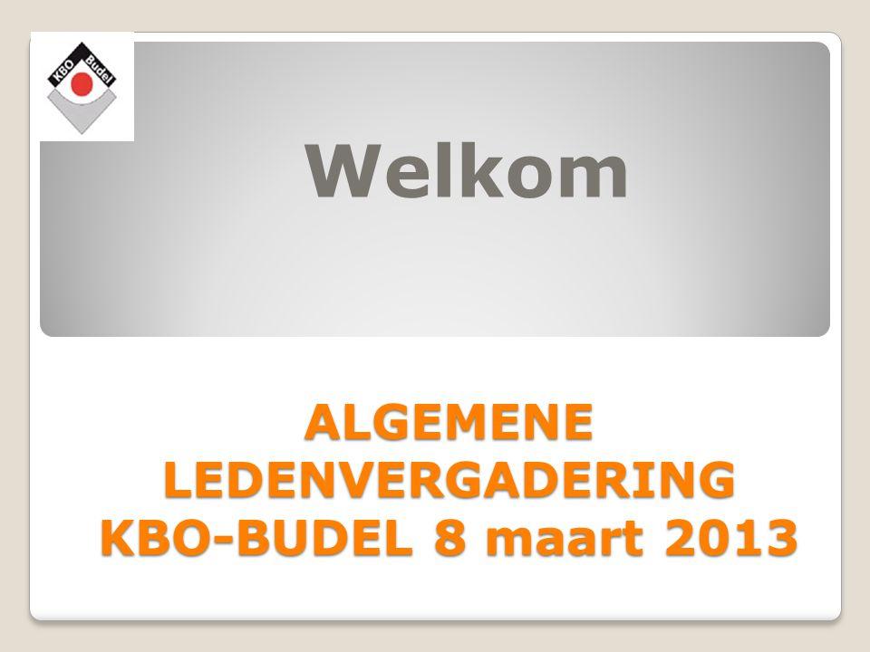 ALGEMENE LEDENVERGADERING KBO-BUDEL 8 maart 2013