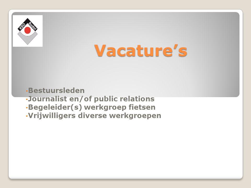 Vacature's Bestuursleden Journalist en/of public relations