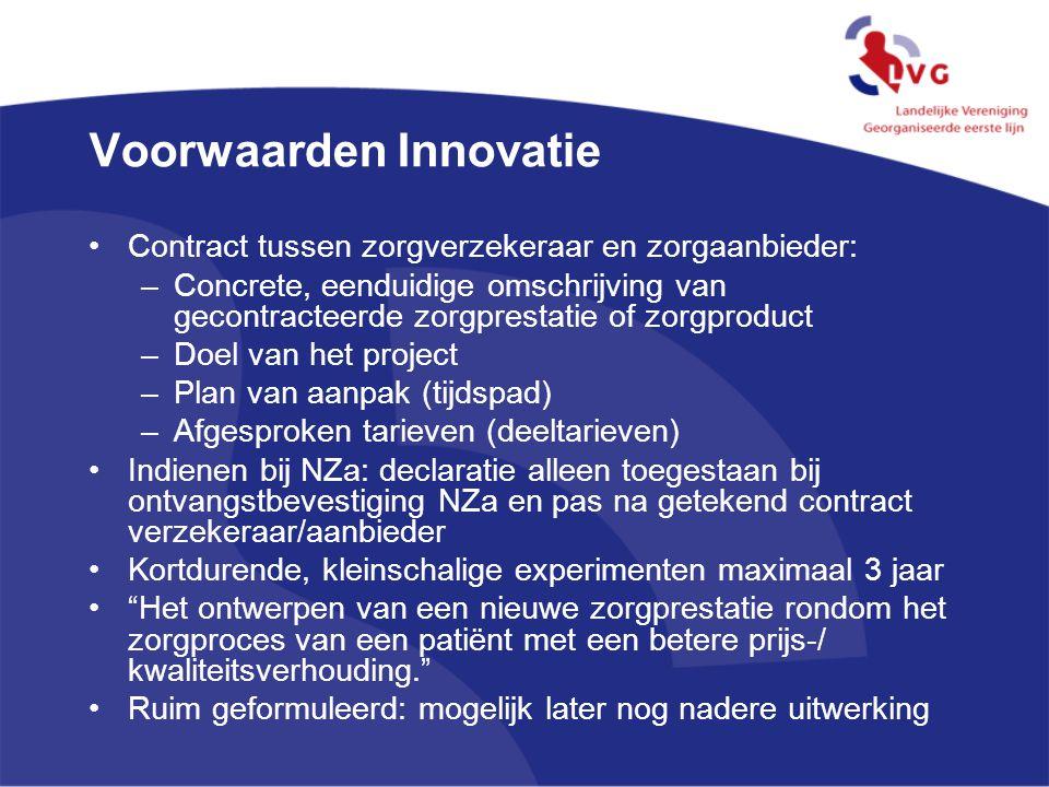 Voorwaarden Innovatie