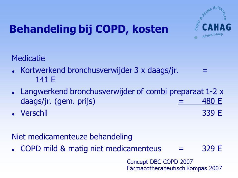 Behandeling bij COPD, kosten