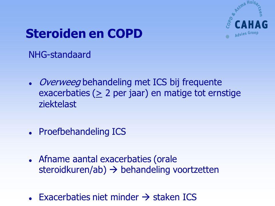 Steroiden en COPD NHG-standaard