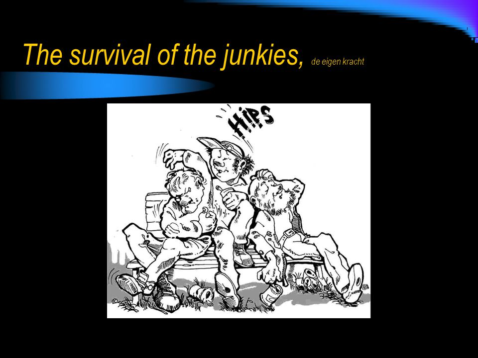 The survival of the junkies, de eigen kracht