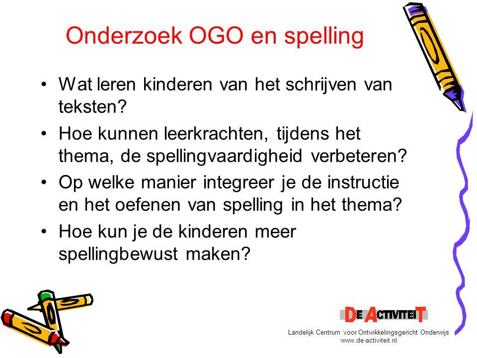Onderzoek OGO en spelling