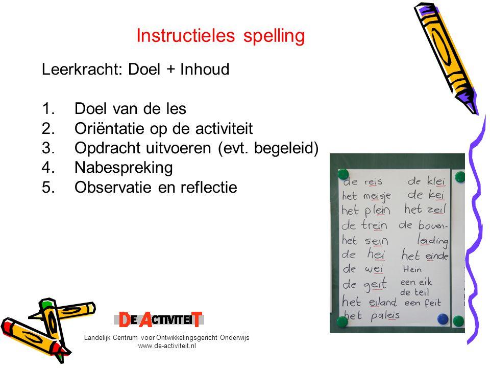 Instructieles spelling