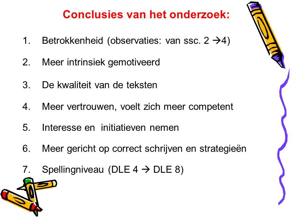 Conclusies van het onderzoek: