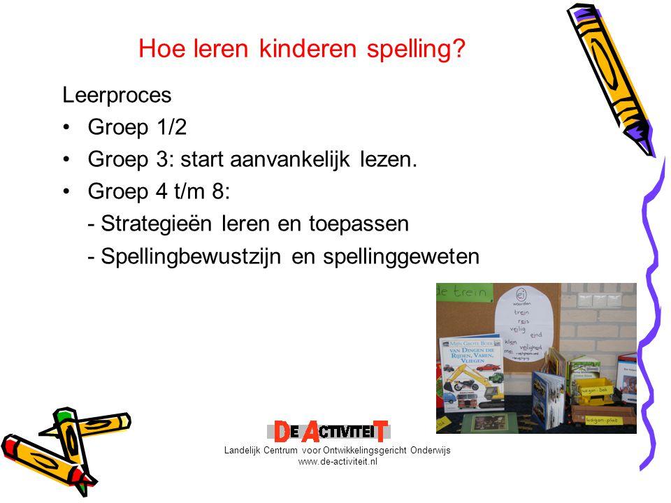 Hoe leren kinderen spelling