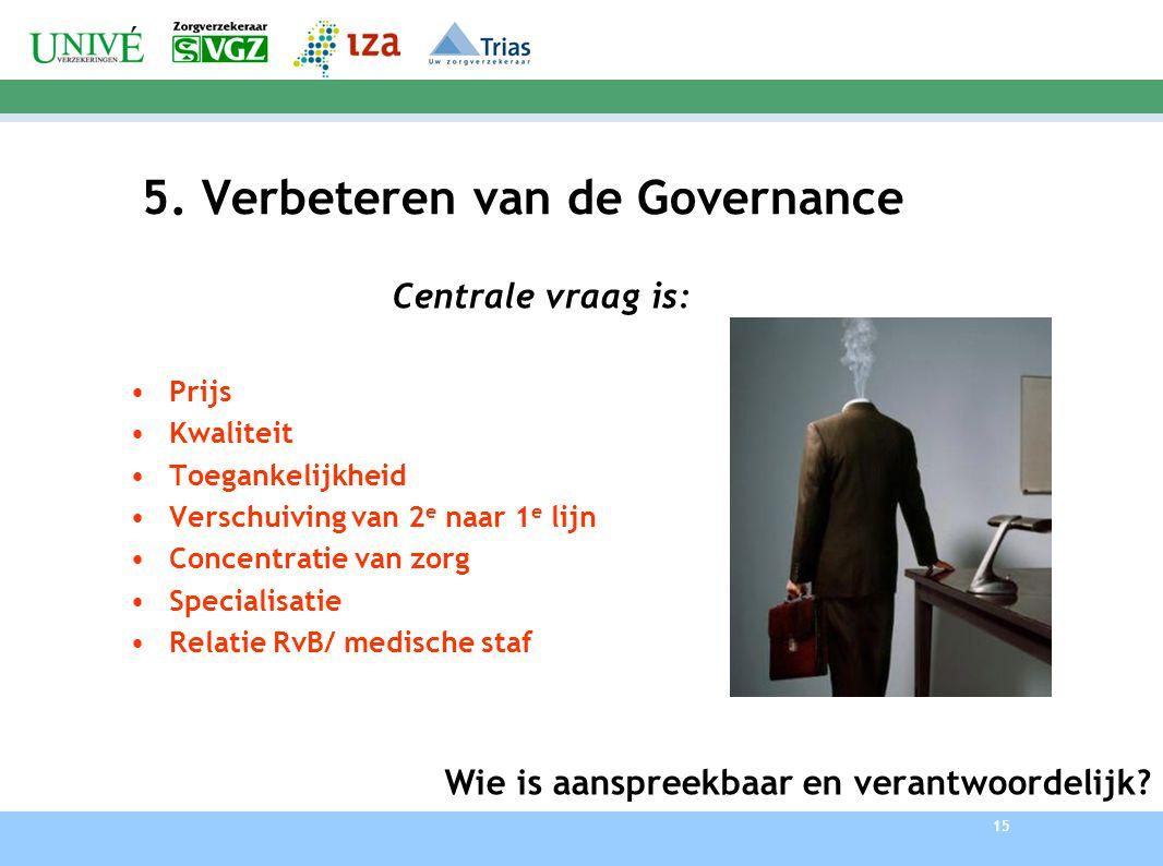 5. Verbeteren van de Governance