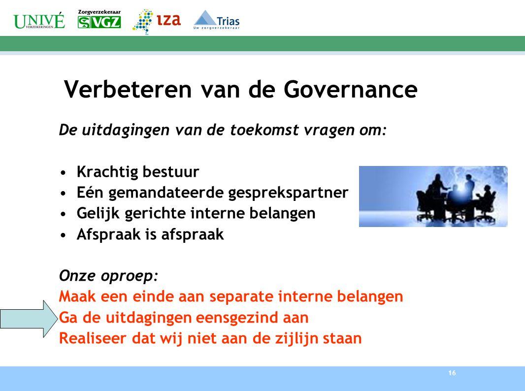 Verbeteren van de Governance