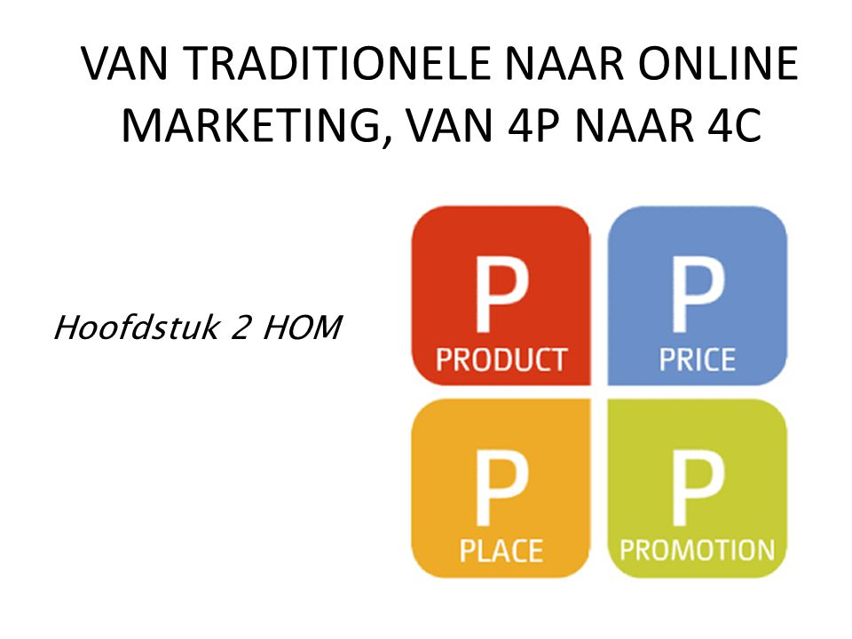 VAN TRADITIONELE NAAR ONLINE MARKETING, VAN 4P NAAR 4C