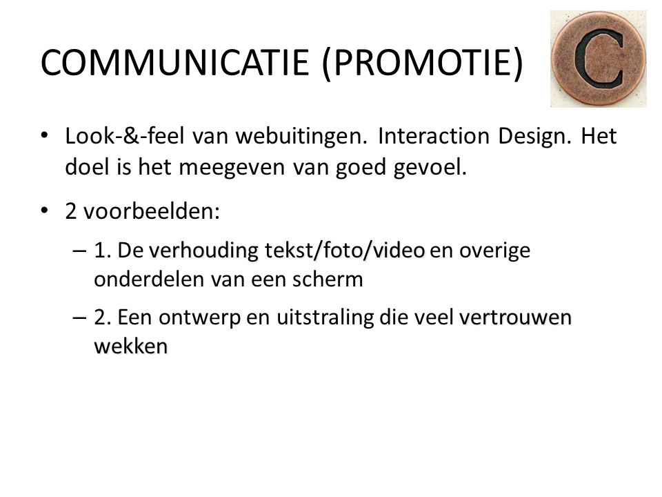 COMMUNICATIE (PROMOTIE)