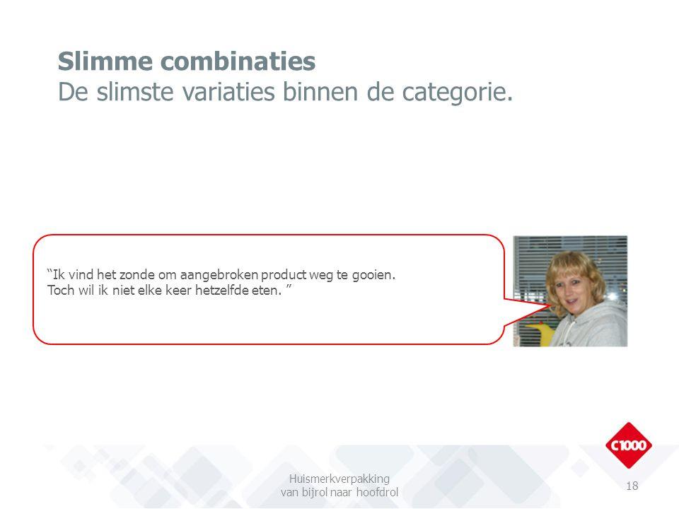 Slimme combinaties De slimste variaties binnen de categorie.