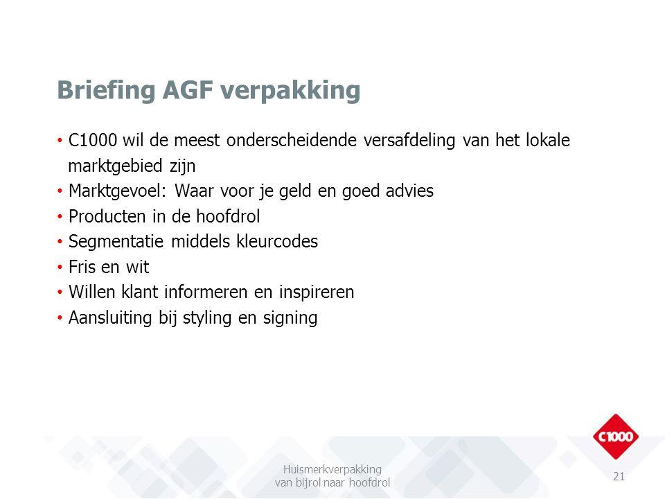 Briefing AGF verpakking