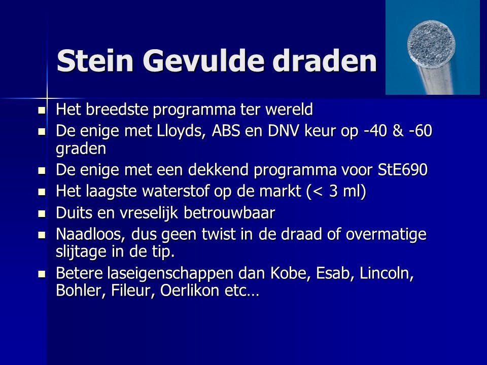 Stein Gevulde draden Het breedste programma ter wereld