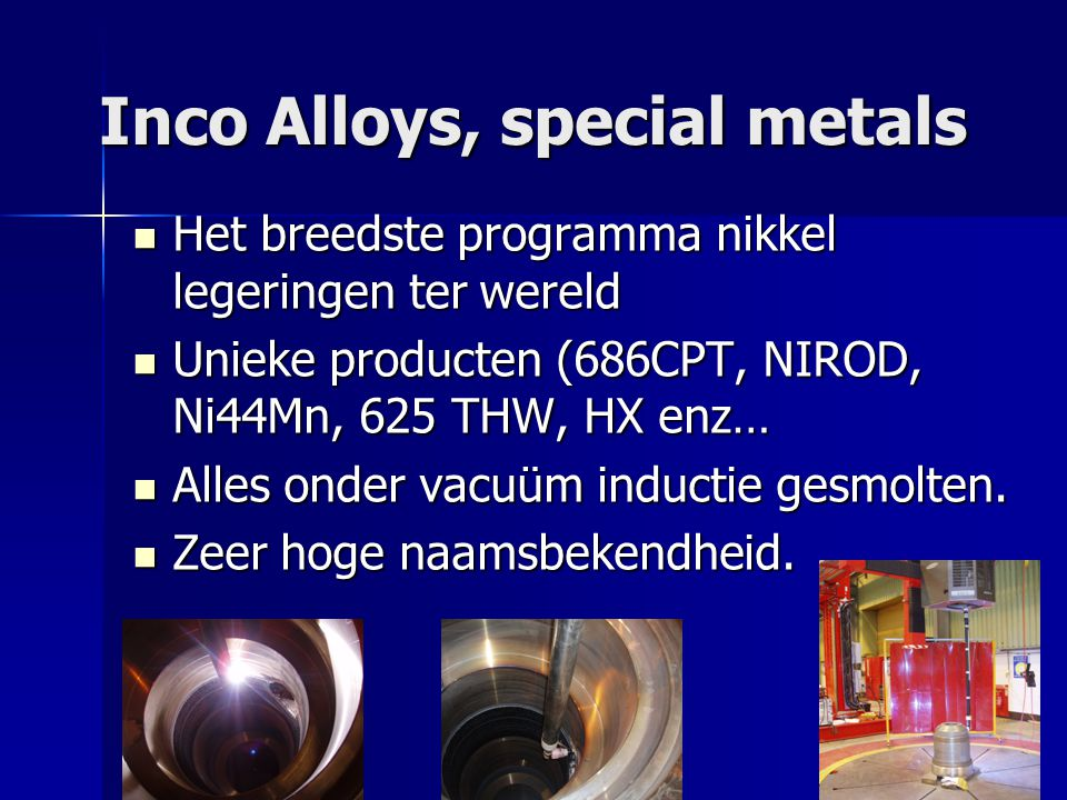 Inco Alloys, special metals