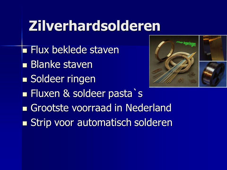 Zilverhardsolderen Flux beklede staven Blanke staven Soldeer ringen