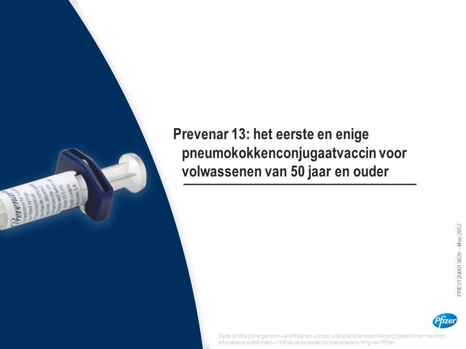 Prevenar 13: het eerste en enige pneumokokkenconjugaatvaccin voor volwassenen van 50 jaar en ouder