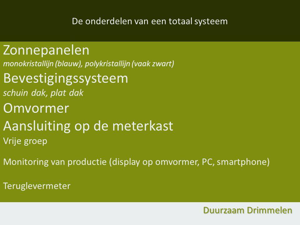 De onderdelen van een totaal systeem