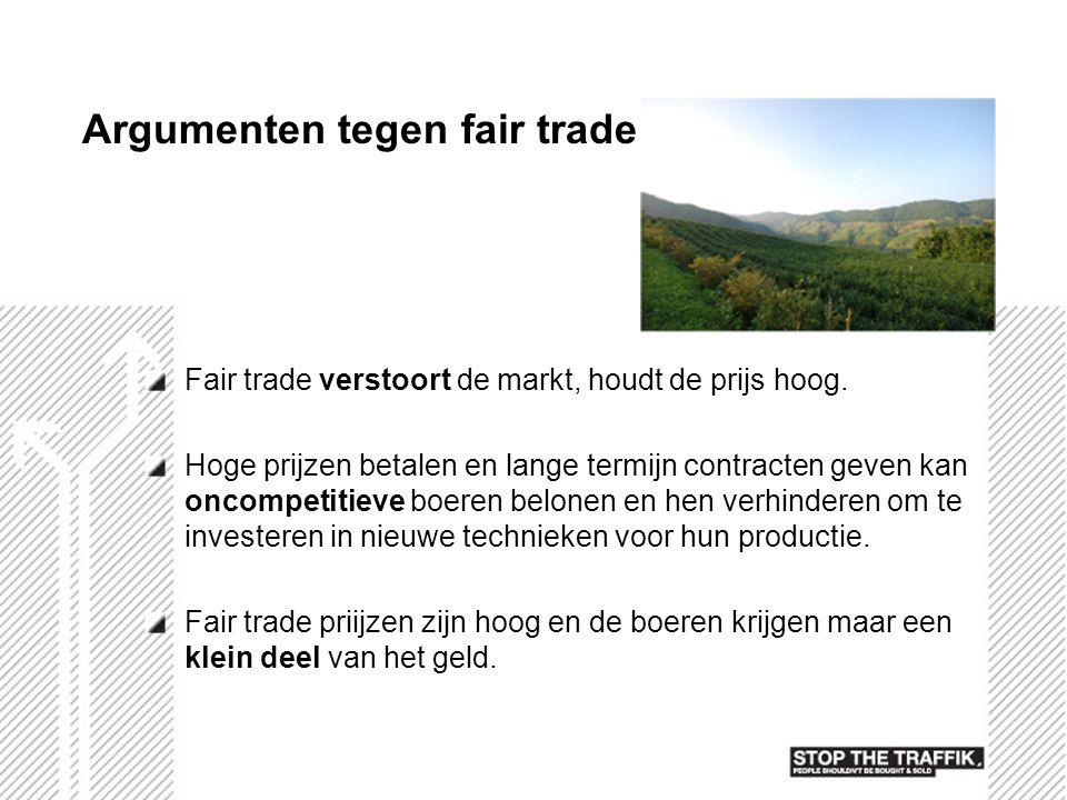 Argumenten tegen fair trade