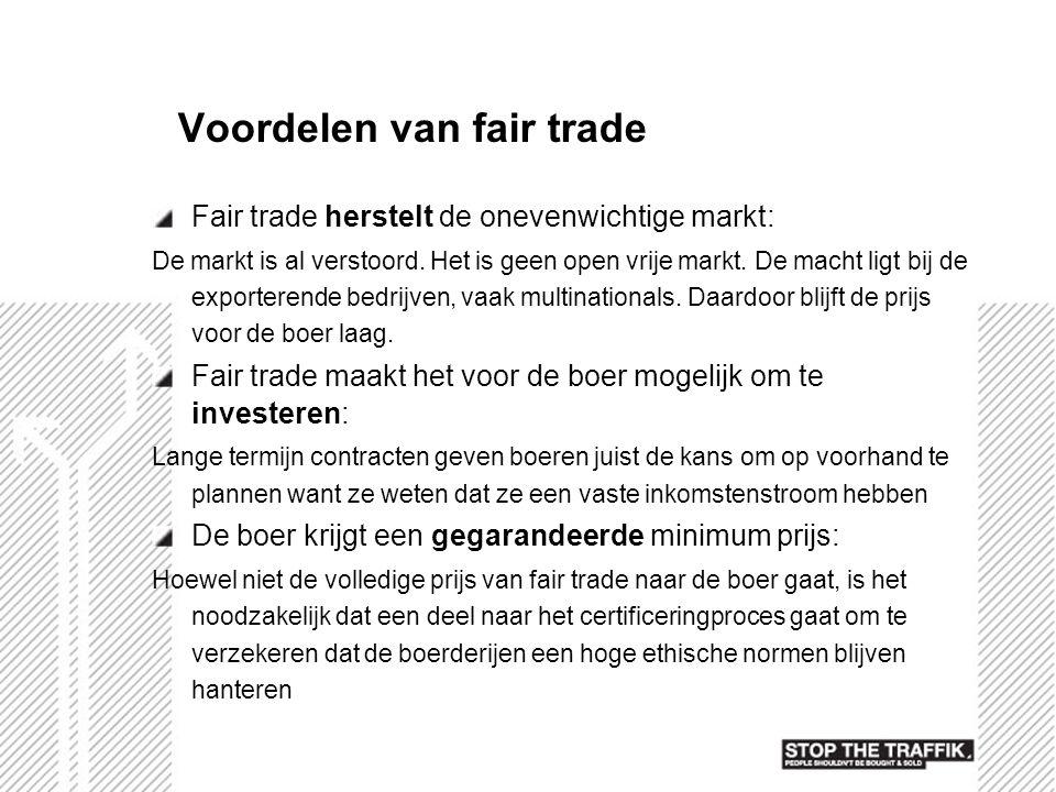 Voordelen van fair trade