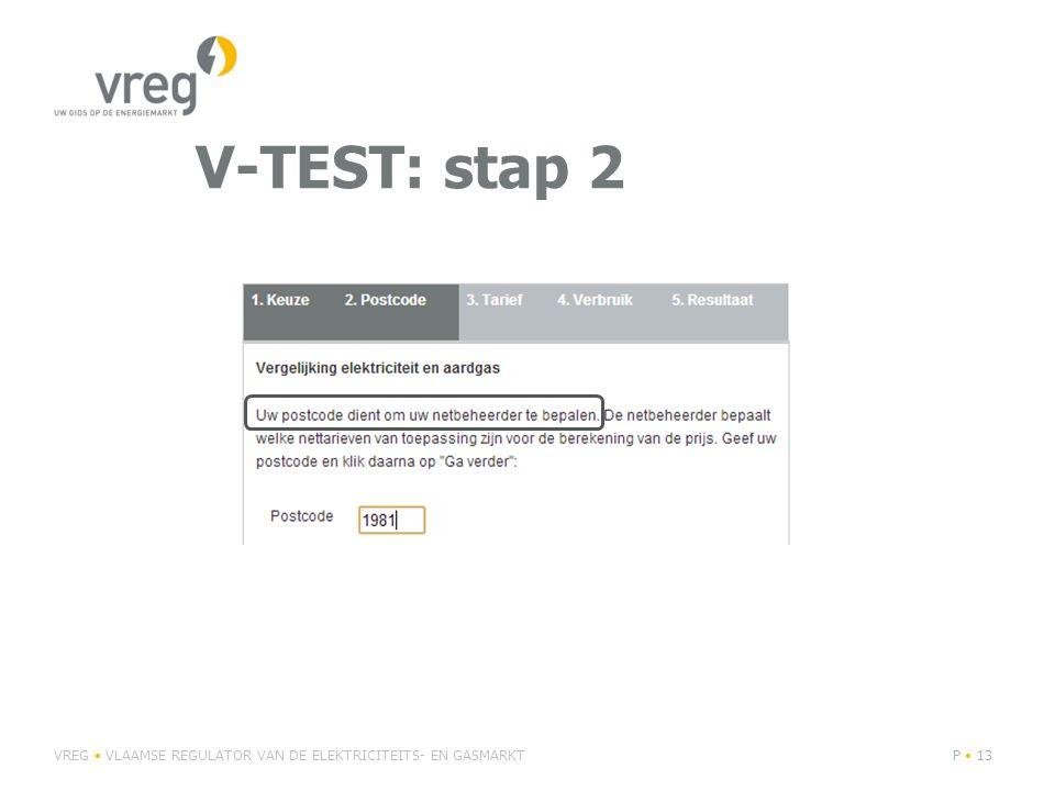 V-TEST: stap 2 VREG • VLAAMSE REGULATOR VAN DE ELEKTRICITEITS- EN GASMARKT