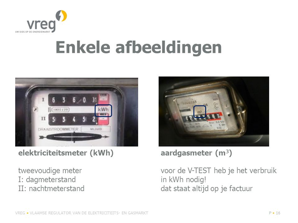 Enkele afbeeldingen elektriciteitsmeter (kWh) tweevoudige meter