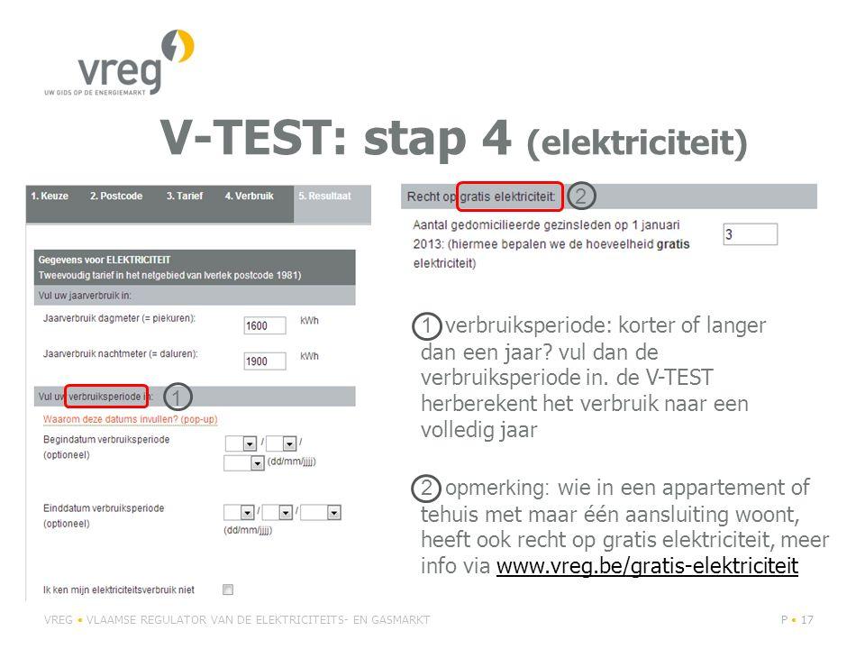 V-TEST: stap 4 (elektriciteit)