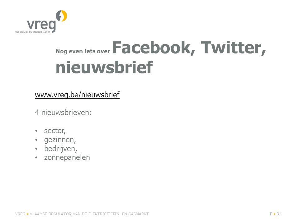 Nog even iets over Facebook, Twitter, nieuwsbrief