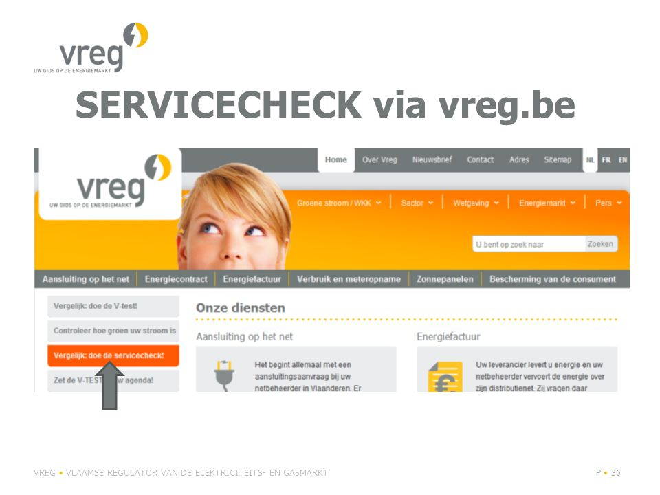 SERVICECHECK via vreg.be