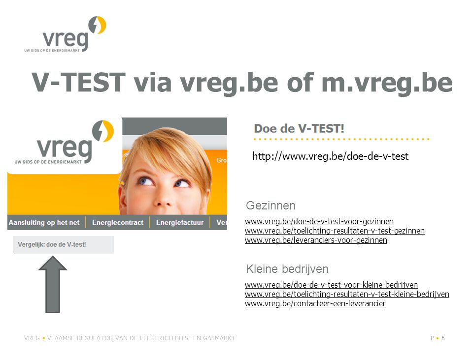 V-TEST via vreg.be of m.vreg.be