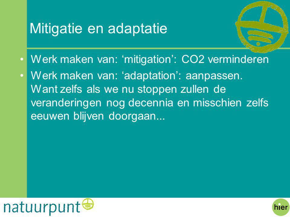 Mitigatie en adaptatie