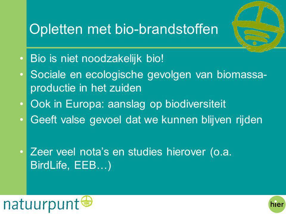 Opletten met bio-brandstoffen
