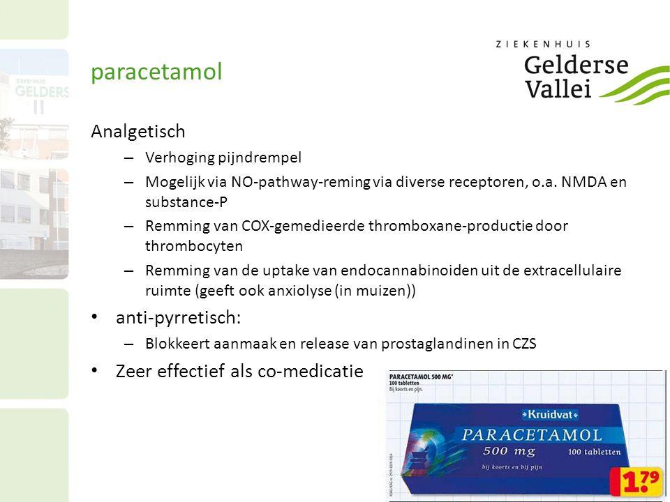 paracetamol Analgetisch anti-pyrretisch: