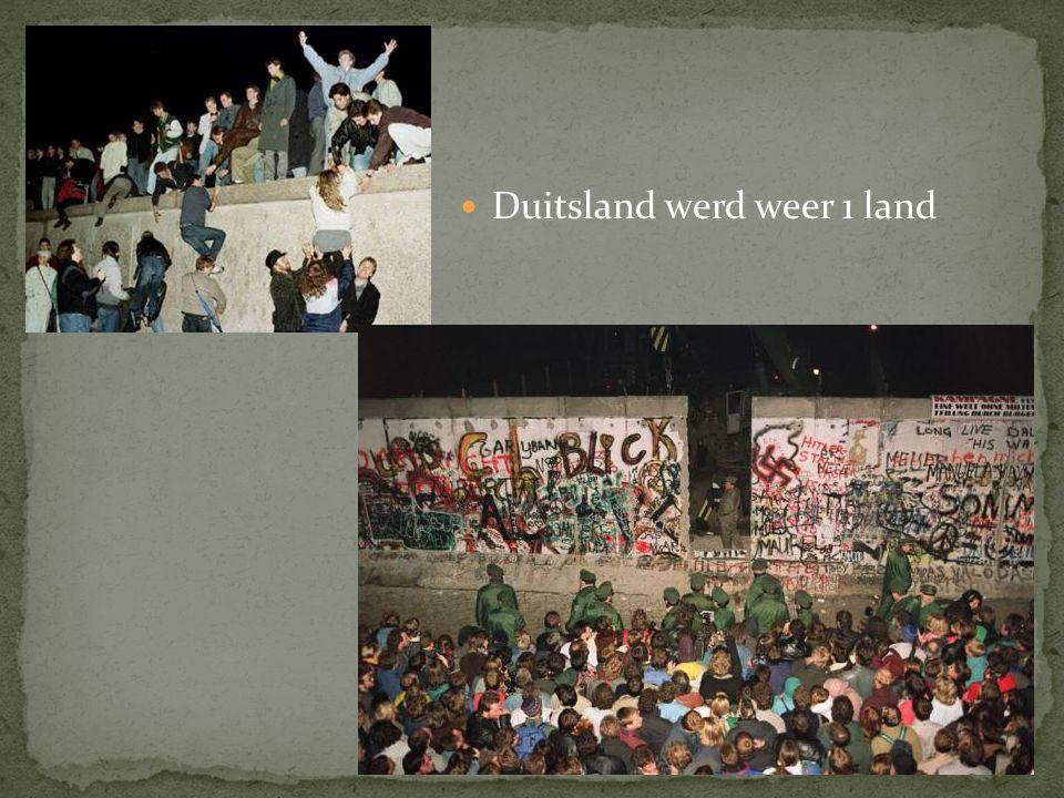 Duitsland werd weer 1 land