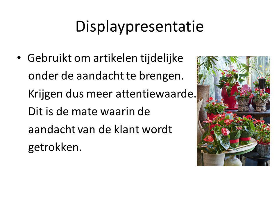 Displaypresentatie Gebruikt om artikelen tijdelijke