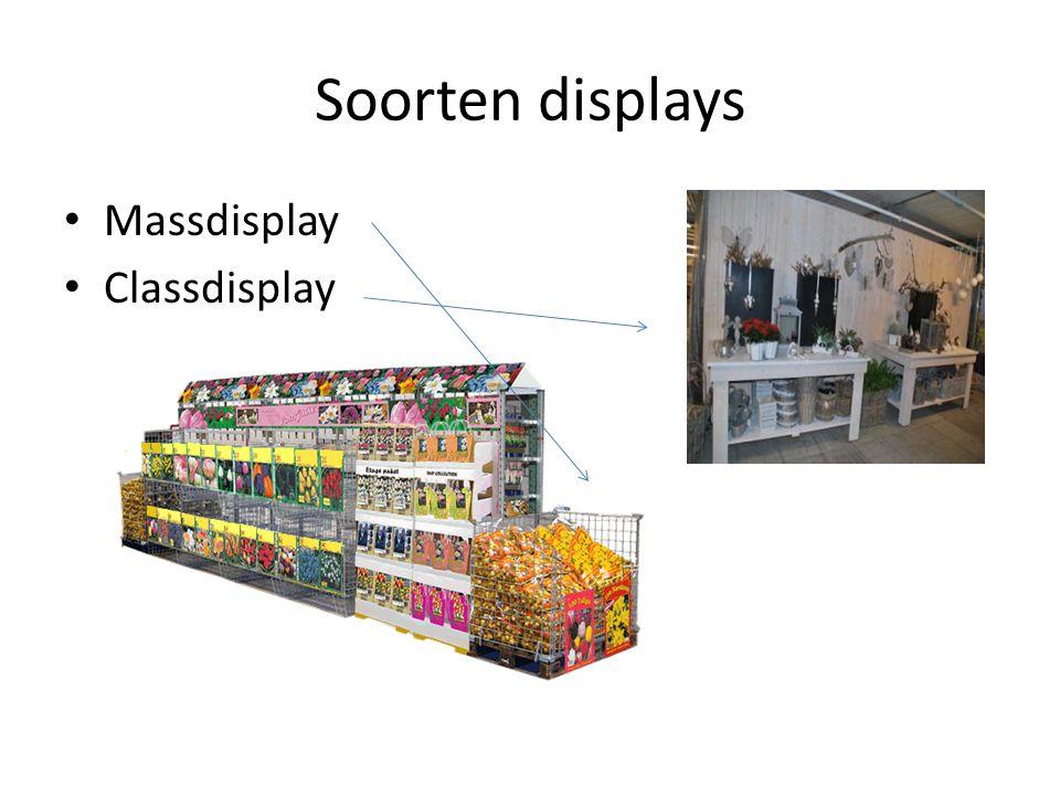 Soorten displays Massdisplay Classdisplay