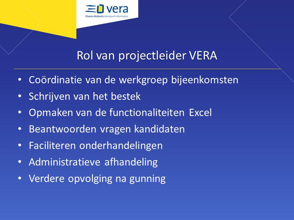Rol van projectleider VERA