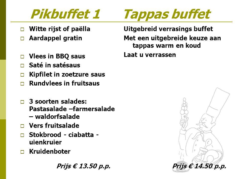 Pikbuffet 1 Tappas buffet