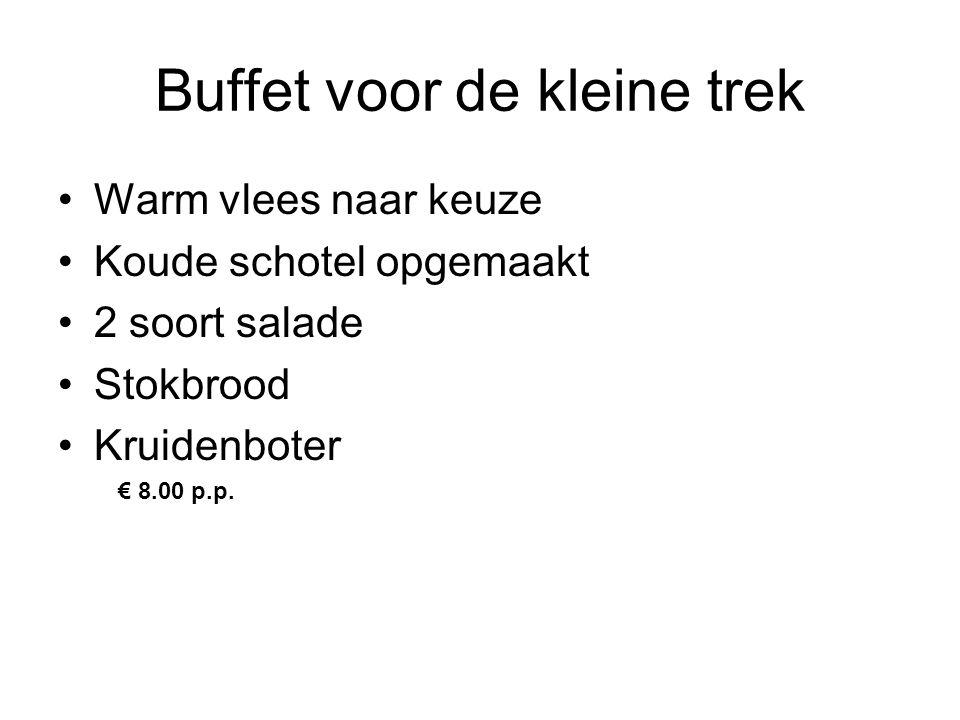 Buffet voor de kleine trek