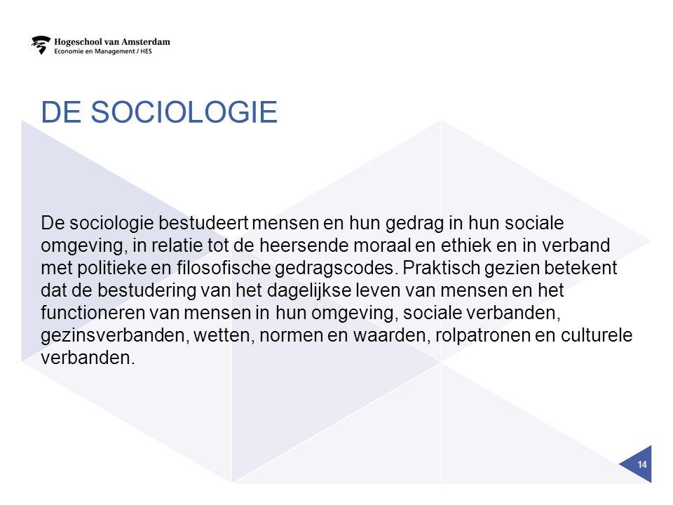 De sociologie