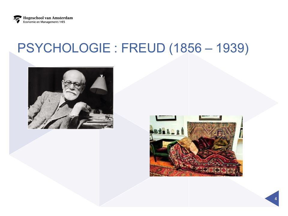 PSYCHOLOGIE : FREUD (1856 – 1939)