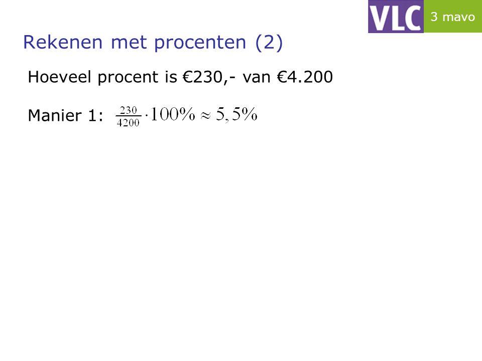 Rekenen met procenten (2)