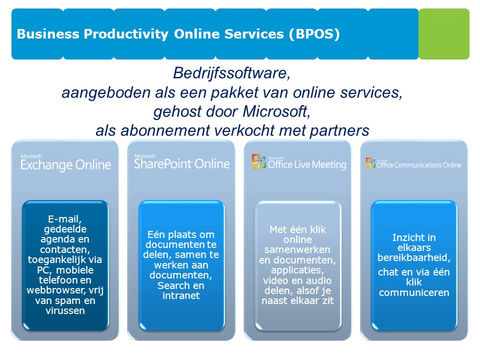 Business Productivity Online Services (BPOS)