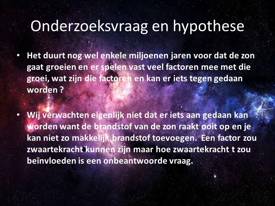 Onderzoeksvraag en hypothese