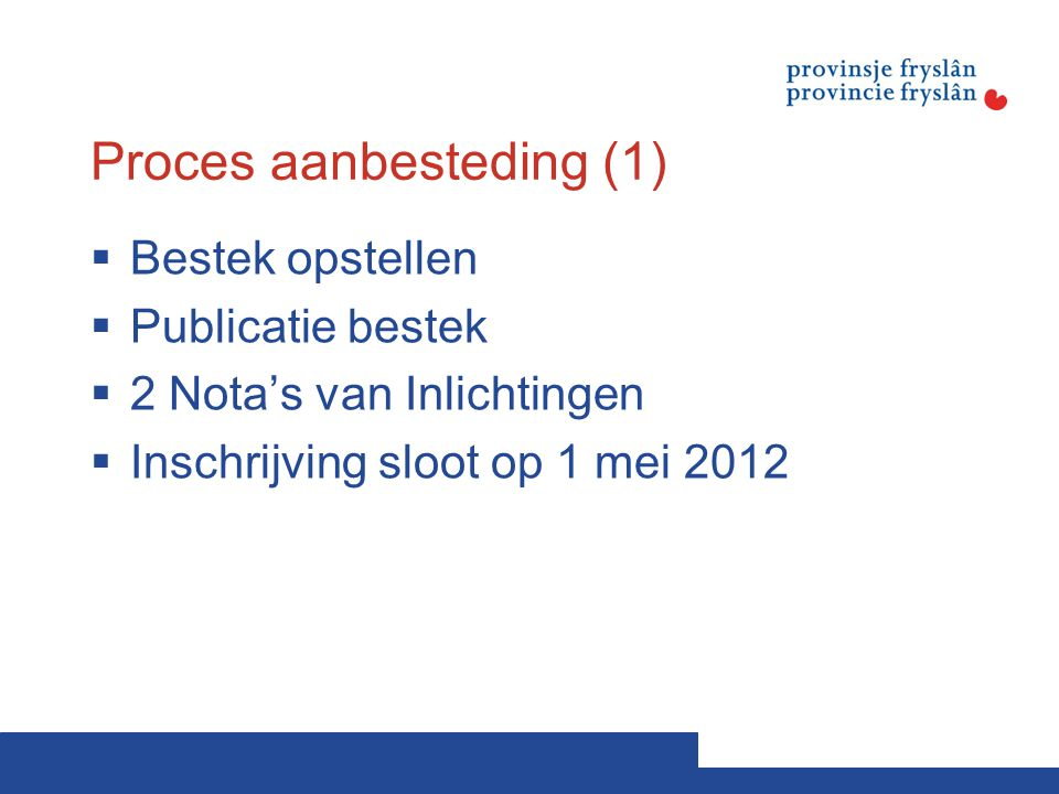Proces aanbesteding (1)