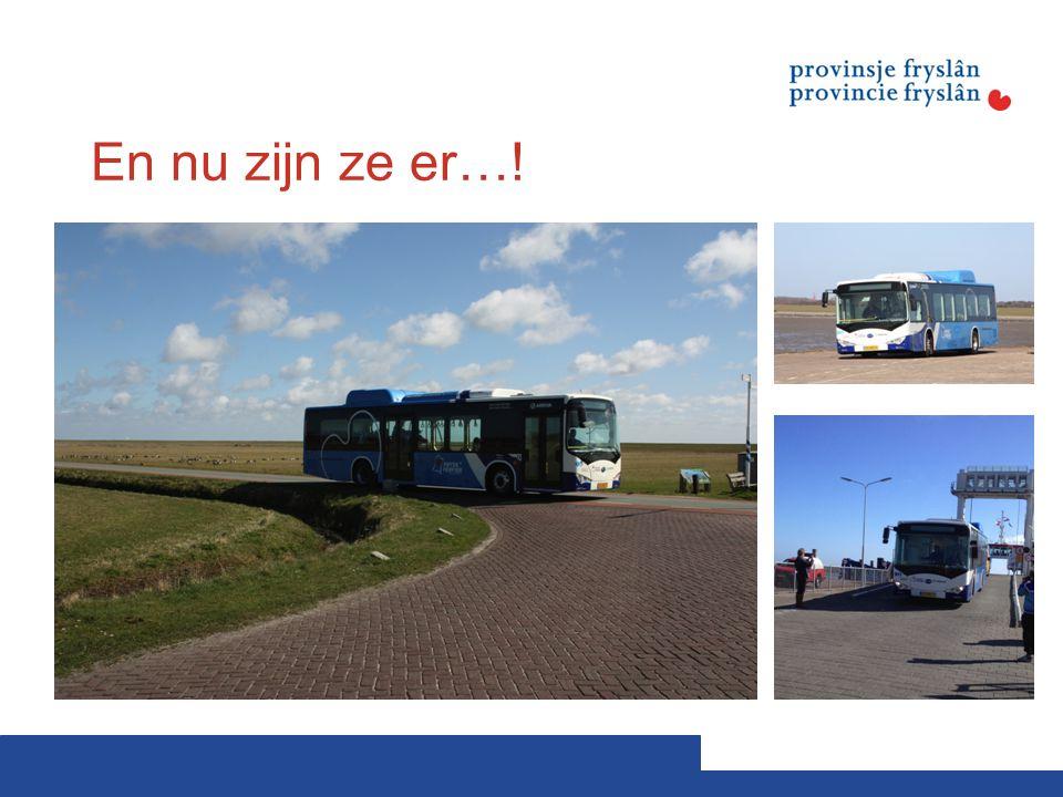 En nu zijn ze er…! Afgelopen zaterdag zijn de bussen overgezet van het vasteland naar Schiermonnikoog.
