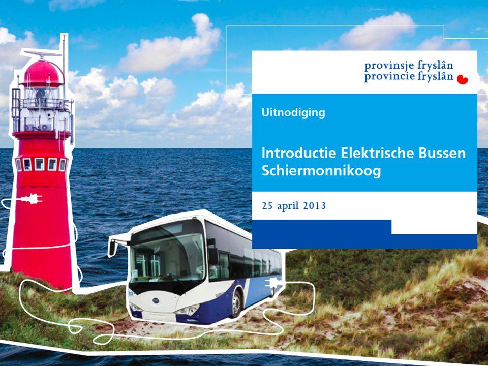 Welkom bij de introductie van de elektrische bussen voor Schier
