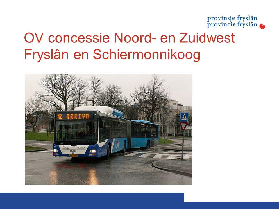 OV concessie Noord- en Zuidwest Fryslân en Schiermonnikoog