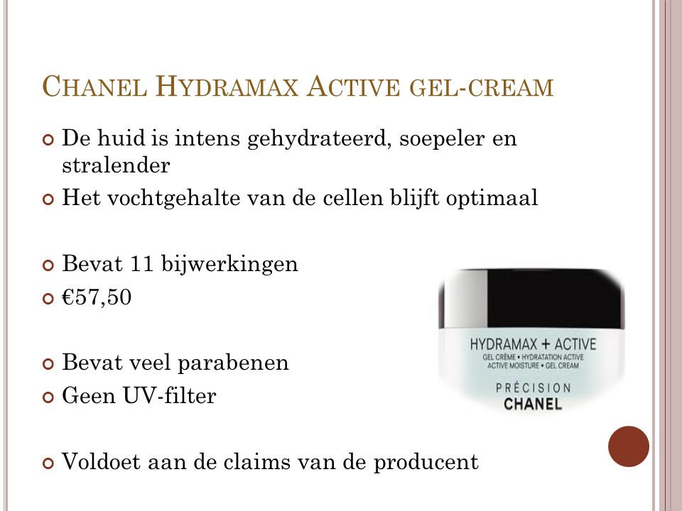 Chanel Hydramax Active gel-cream