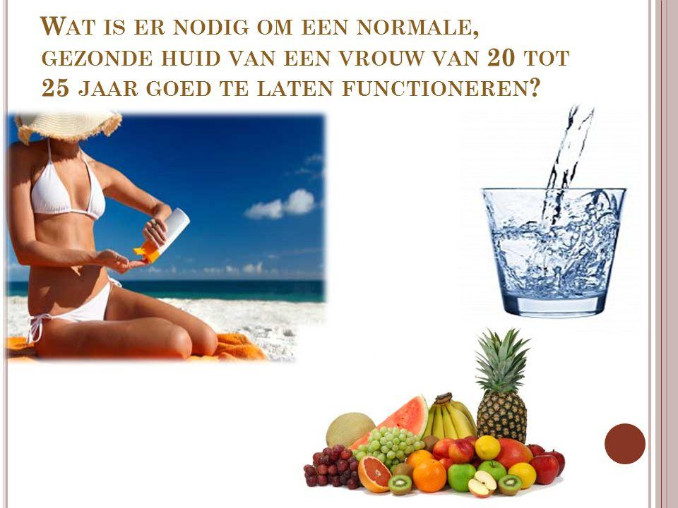 Wat is er nodig om een normale, gezonde huid van een vrouw van 20 tot 25 jaar goed te laten functioneren